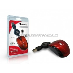 MOUSE RETRACTIL SM-888 ROJO